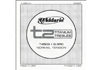 D'Addario T2 Titanium Normal Single String