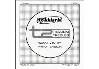 D'Addario T2 Titanium Hard Single