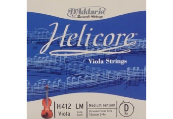 D'Addario Helicore H410LM Viola Long Scale Medium Tension D (Re) Teli - Tek Tel
