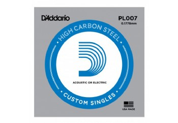 D'Addario PL007 Single Plain Steel