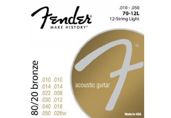 Fender 7012L 80/20 Bronze Acoustic Strings