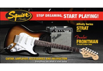 Squier Affinity Strat with Fender Frontman Amp SSS
