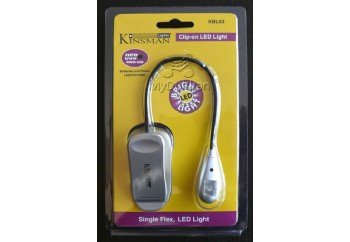Kinsman KBL03 Single Flex 2 LED Light Silver