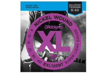 D'Addario EXL120BT Nickel Wound, Balanced Tension Super Light, 09-40