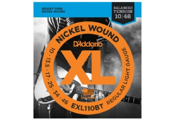 D'Addario EXL110BT Nickel Wound, Balanced Tension Regular Light, 10-46
