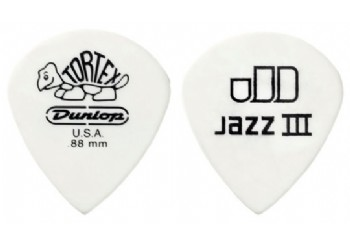 Jim Dunlop Tortex Jazz III White