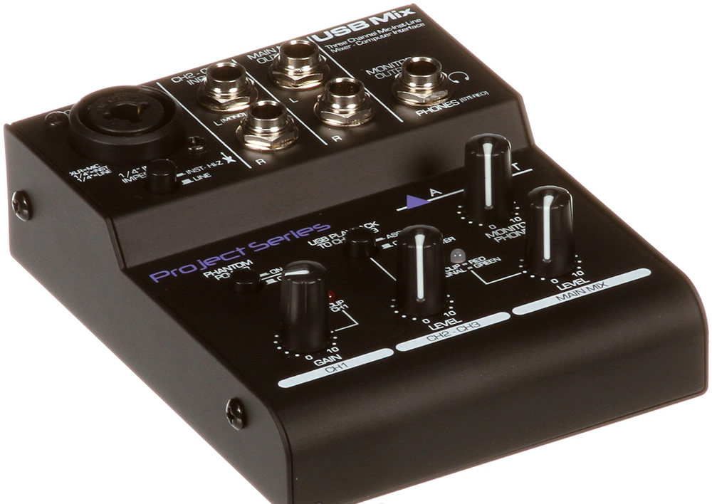how to connect mixer to usb interface