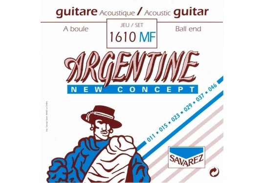 Savarez 1610MF Argentine Acoustic Jazz Guitar Strings - Akustik Gitar Teli 011
