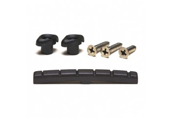 Graphtech PT-5001-00 Black TUSQ XL Slotted Nut & Retainer Pack