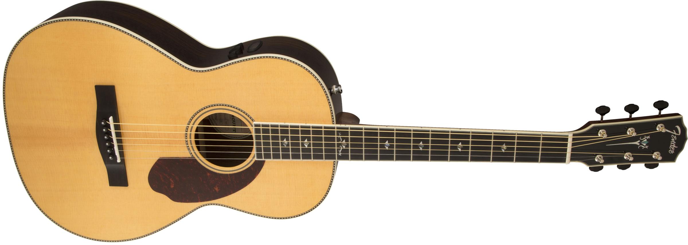 fender paramount series pm 2 deluxe parlor natural elektro akustik gitar. Black Bedroom Furniture Sets. Home Design Ideas