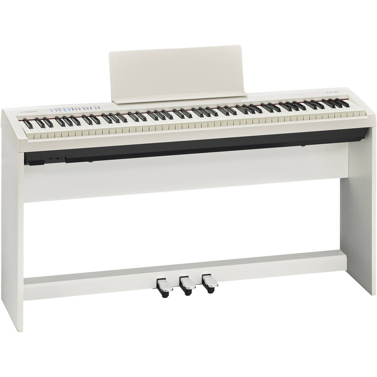roland fp 30 digital piano wh white dijital piyano. Black Bedroom Furniture Sets. Home Design Ideas