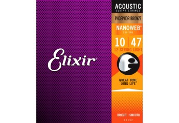 Elixir 16152 Pack of 12 Phosphor Bronze Light Acoustic
