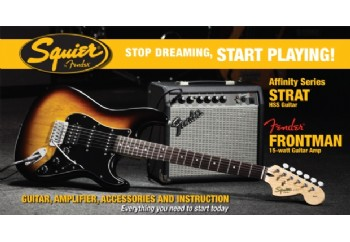 Squier Affinity Strat with Fender Frontman Amp HSS