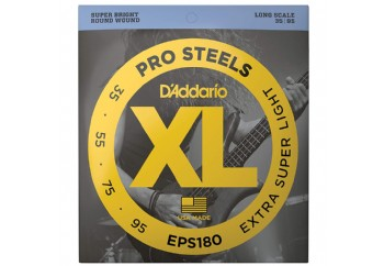 D'Addario EPS180 ProSteels Bass, Extra Super Light, 35-95, Long Scale