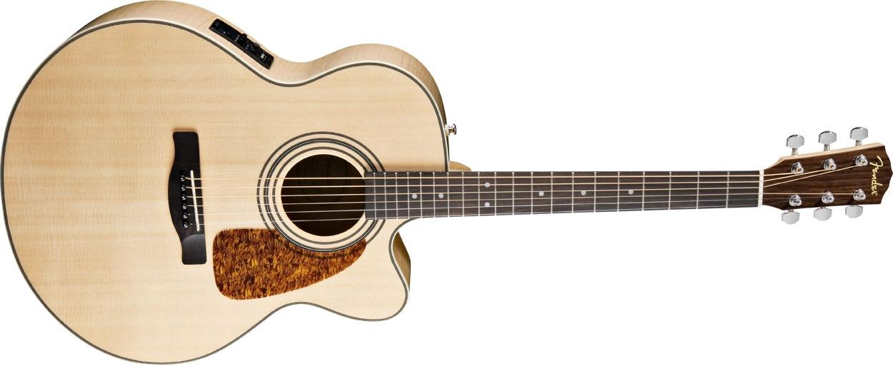 Fender Classic Design CJ 290SCE Natural Elektro Jumbo